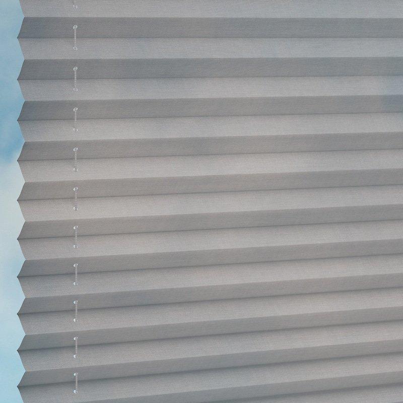 Jaloustore Transparentes Plissee auf Maß in matter Baumwoll-Optik Beige - Bild 1