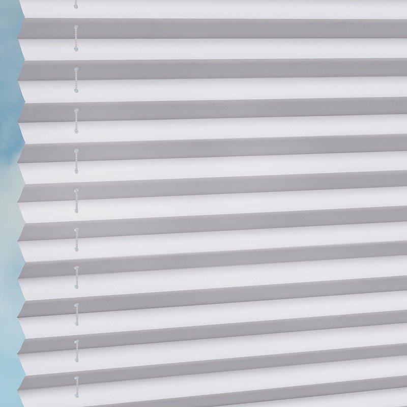 Jaloustore Halbtransparentes Plissee auf Maß in matter, feiner Baumwoll-Optik Weiß - Bild 2