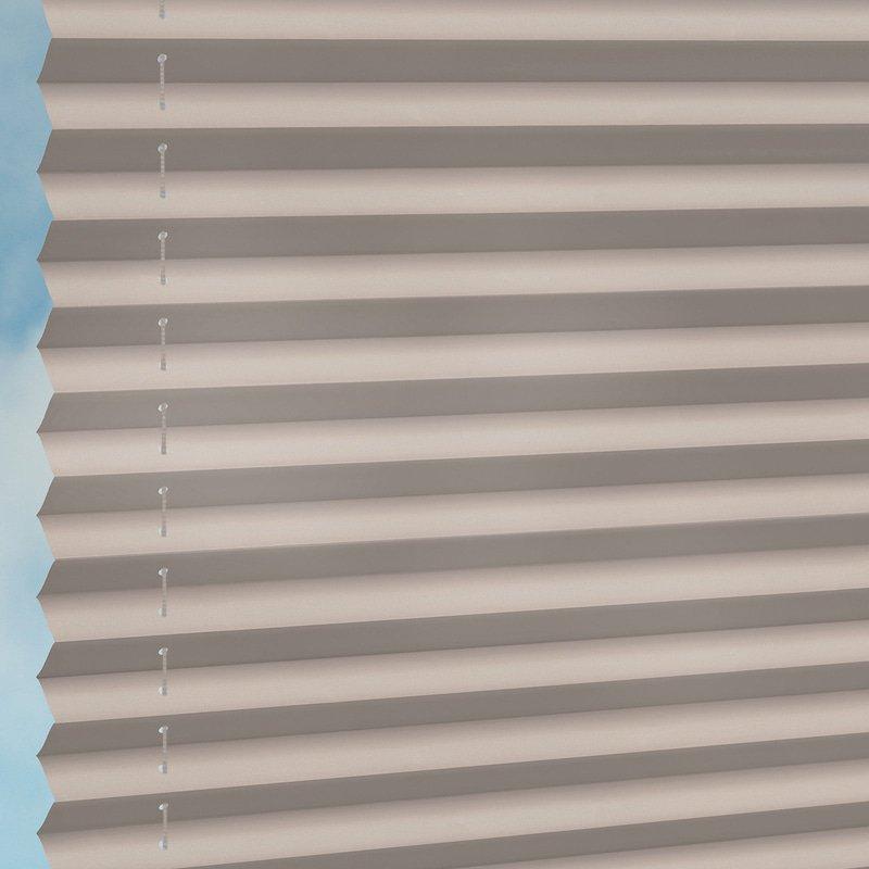 Jaloustore Halbtransparentes Plissee auf Maß in matter, feiner Baumwoll-Optik Greige - Bild 2