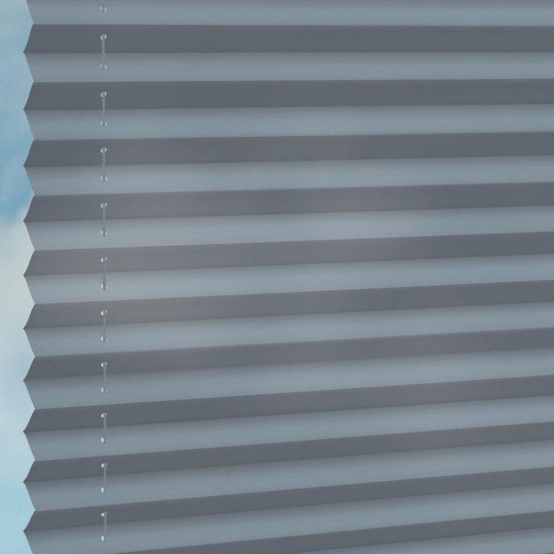 Jaloustore Halbtransparentes Plissee auf Maß in matter, feiner Baumwoll-Optik Jeansblau - Bild 1