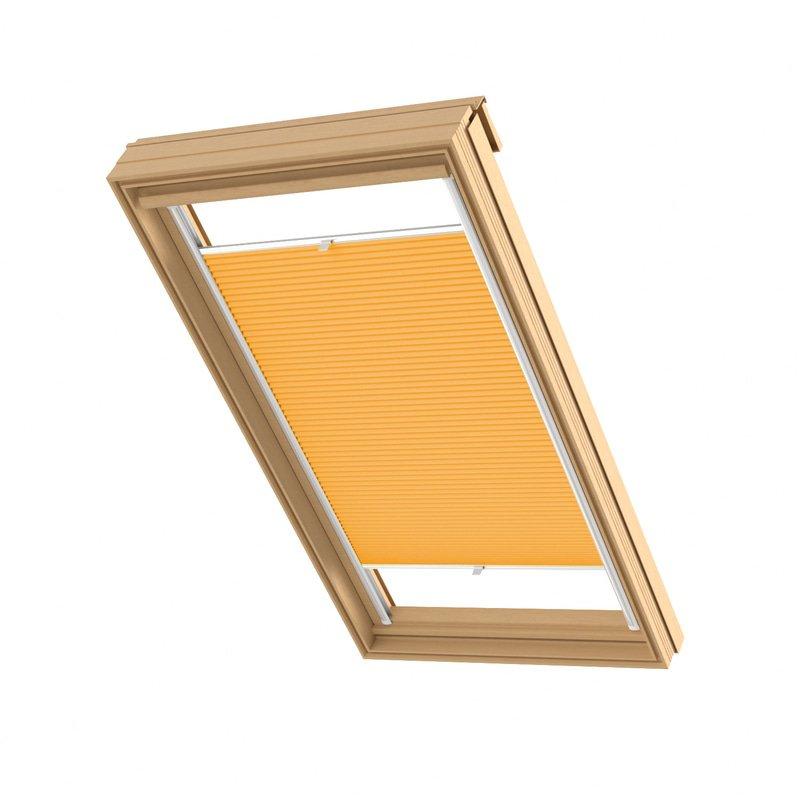 Jaloustore Blickdichtes Wabenplissee auf Maß mit leichter Struktur, Rückseite weiß Orange - Bild 0