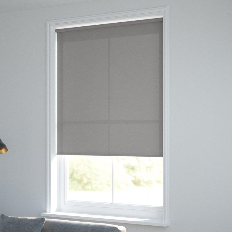 Jaloustore Blickdichtes Rollo auf Maß in matter Baumwoll-Optik Grau - Bild 1