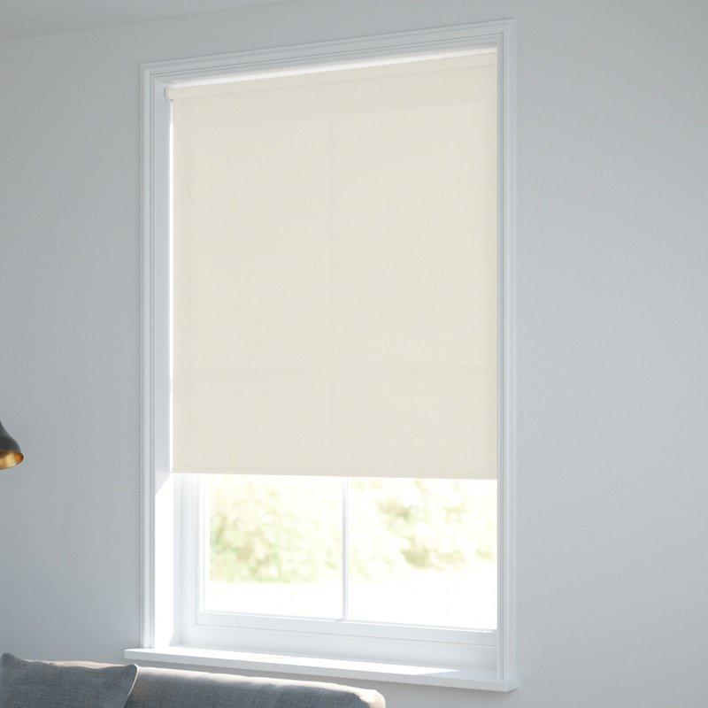 Jaloustore Blickdichtes Rollo auf Maß in matter Baumwoll-Optik Creme - Bild 1